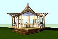 Дизайн-проект альтанки для туристичного комплексу «КНЯЖА ГОРА»