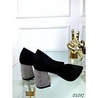 Туфли лодочки блестящий каблук, фото 1