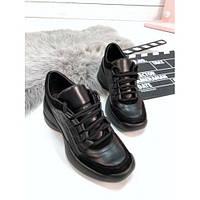 Кожаные осенние кроссовки, фото 1