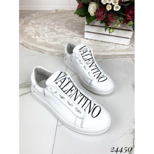 Кожаные женские кеды Valentino