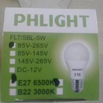 Cветодиодная лампочка LED 6500 K  5 W  PHLIGHT, фото 3