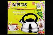 Чайник газовий зі свистком 3 л A-Plus AP-1334-WK, фото 2