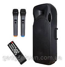 Активная колонка с радиомикрофонами temeisheng A15-15 (USB/Bluetooth/Аккуммулятор) Супер звук!