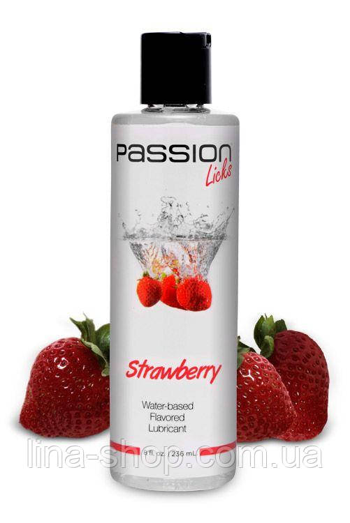 Лубрикант Passion Licks Strawberry Water Based Flavored Lubricant, 236 мл
