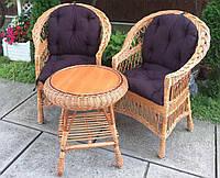 Мебель из лозы  с круглым столом | Дачная мебель  из лозы | мебель балконная