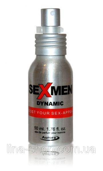 Aurora - Духи с феромонами мужские SEXMEN DYNAMIC, 50 мл (281007)