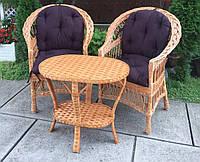 Мебель из лозы  с овальным  столом | Дачная мебель плетеная  | комплект балконной мебели
