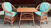 Мебель из лозы на подарок | Дачная мебель плетеная подарочная   | комплект балконной мебели на подарок