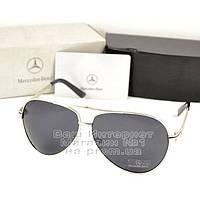 Мужские солнцезащитные очки Mercedes-Benz Aviator Авиатор с поляризацией для водителей Поляризационные реплика, фото 1
