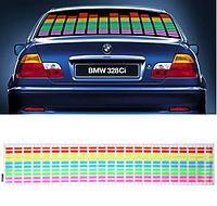 Эквалайзер на стекло авто, светомузыка на автомобиль 70х16 см