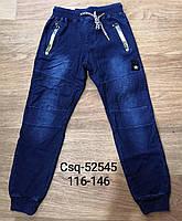 Брюки с имитацией джинсы утепленные для мальчиков Seagull оптом, 116-146 рр. Артикул: CSQ52545, фото 1