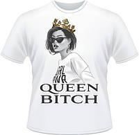 "Стильная женская футболка ""Queen bitch"""