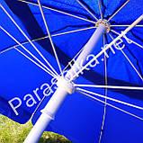 Зонт 2,6 метра брезентовый с клапаном, фото 4