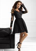 Вечернее платье мини выпускное нежное  с фатином 42 44 46