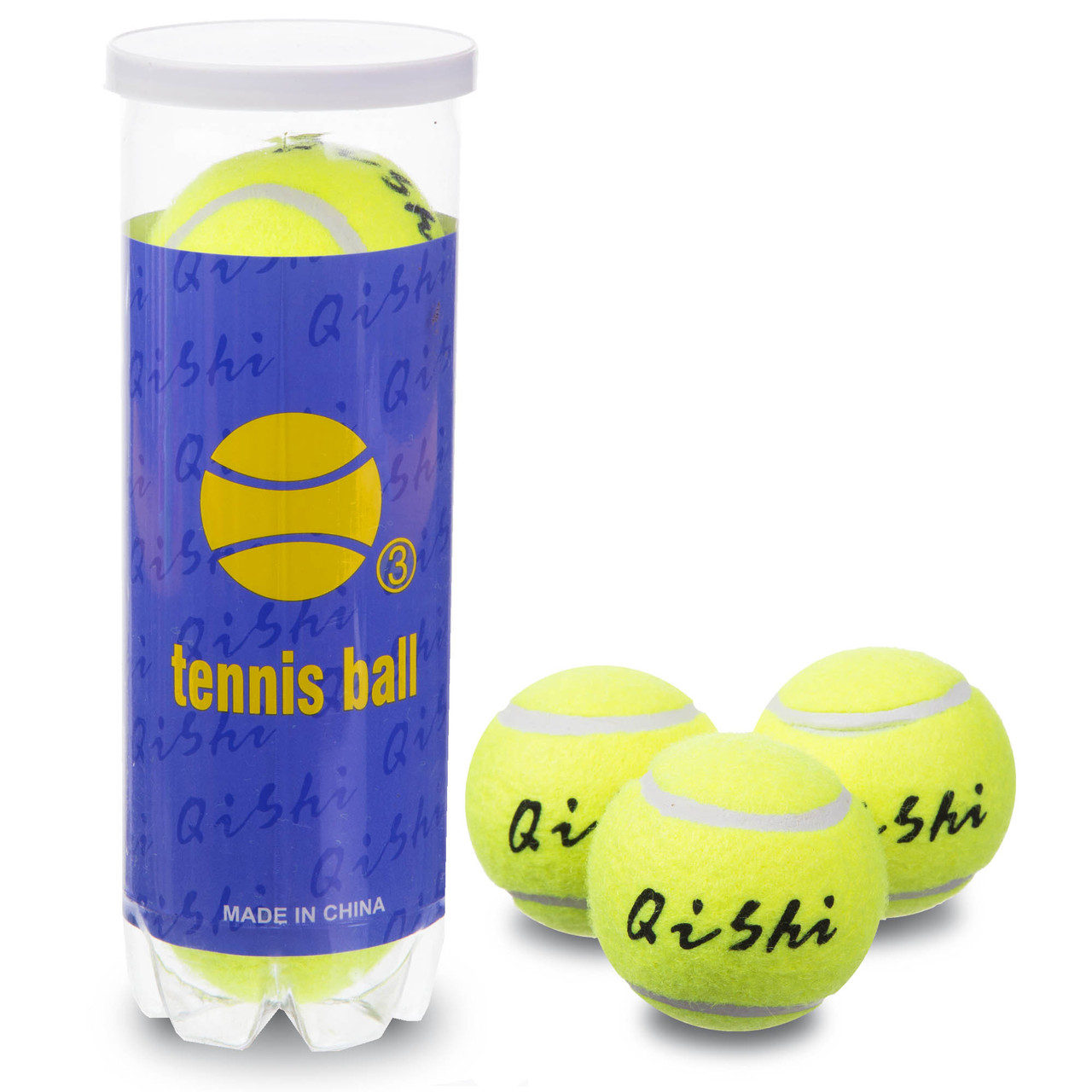 Набор из 3 мячей для большого тенниса TELOON