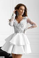 Вечернее платье мини выпускное нежное  мини 42 44 46