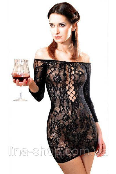 Платье сетка Anne De Ales FETISH DINNER Black M/L