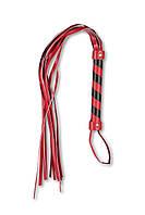 Плеть многохвостовка с красно-черной рукоятью, фото 1