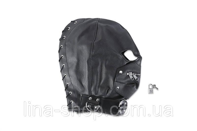 Шлем на голову с молнией и шнуровкой