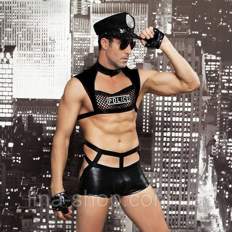 """Чоловічий еротичний костюм поліцейського """"Капітан Безпринципність"""""""