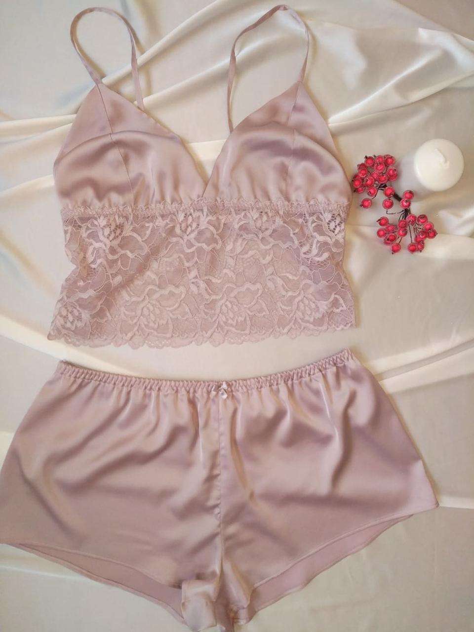 Піжама жіноча шовк мереживо / Пижама женская шелк кружево