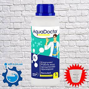 Коагулянт (флокулянт) Aquadoctor FL 1 л ЖИДКИЙ. Средство против мутности в воде. Химия для бассейна Аквадоктор, фото 2