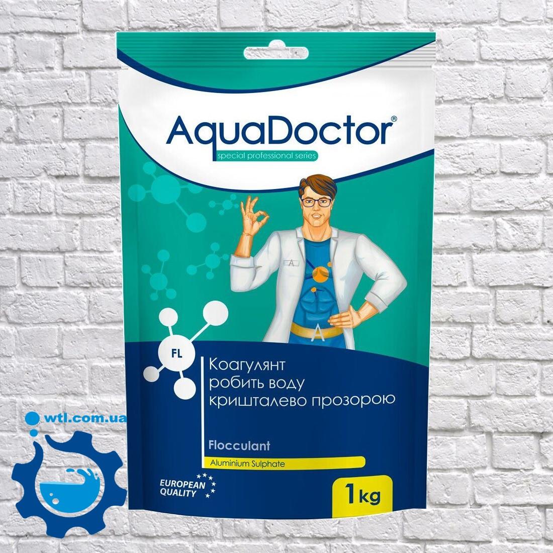 Коагулянт (флокулянт) проти мутності у воді Aquadoctor FL 1 кг порошку Аквадоктор