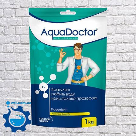 Коагулянт (флокулянт) проти мутності у воді Aquadoctor FL 1 кг порошку Аквадоктор, фото 2
