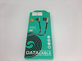 "USB Кабель HOCO U42 ""Exquisite steel"" Type-C (1.2 М) (чорний)"