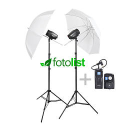 Набор импульсного студийного света Godox MiniMaster-150 KIT-2, 2х150 Дж, радиосинхронизатор Godox RT-16