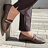 Туфли женские кожаные коричневые с цепочкой MORENTO, фото 7
