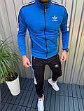 Adidas Мужской спортивный костюм .Весна Осень 2020.Турецкий мужской спортивный костюм демисезонный, фото 2