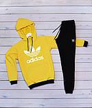 Adidas( адидас) желто черный.Мужской желтый демисезонный спортивный костюм 2020, фото 2