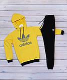 Adidas( адидас) желто черный.Мужской желтый демисезонный спортивный костюм 2020, фото 3