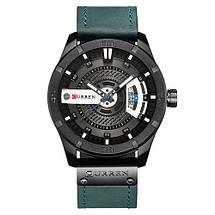 Мужские кварцевые наручные часы Curren 8301 Light Blue-Black. Оригинал, фото 3