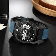 Мужские кварцевые наручные часы Curren 8301 Light Blue-Black. Оригинал, фото 2