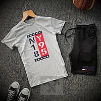 Мужской летний костюм шорты+футболка.Мужской спортивный костюм лето