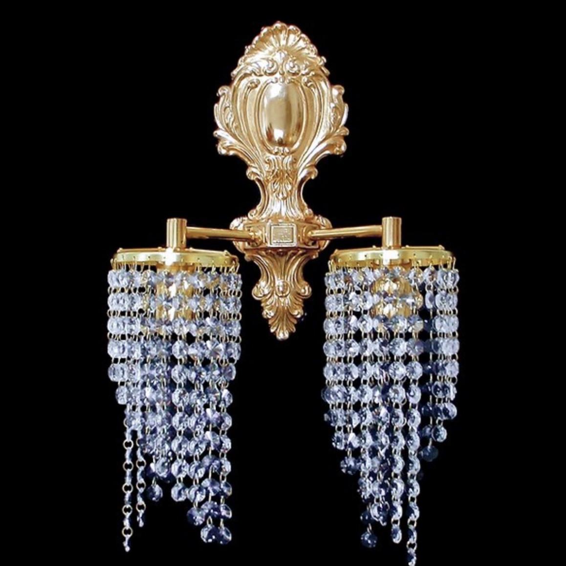 Бра чешские хрустальные коллекция литые светильники