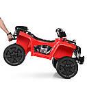 Дитячий квадроцикл ZP 5138 E-3, mp3, USB, колеса EVA, червоний, фото 3