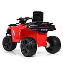 Дитячий квадроцикл ZP 5138 E-3, mp3, USB, колеса EVA, червоний, фото 5