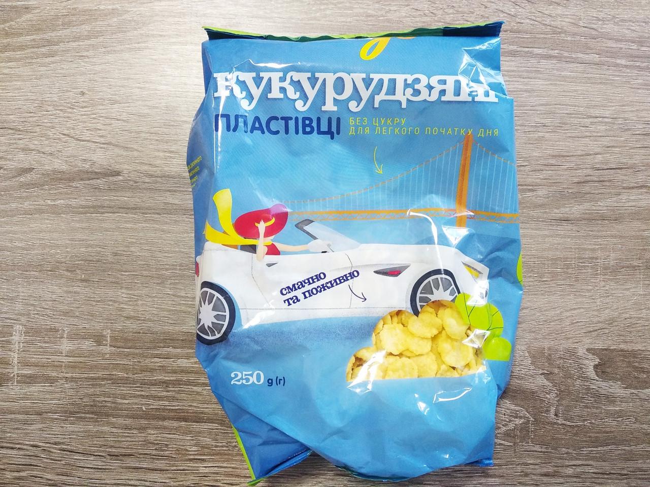 Пластівці кукурудзяні без цукру Vengo 250 гр.
