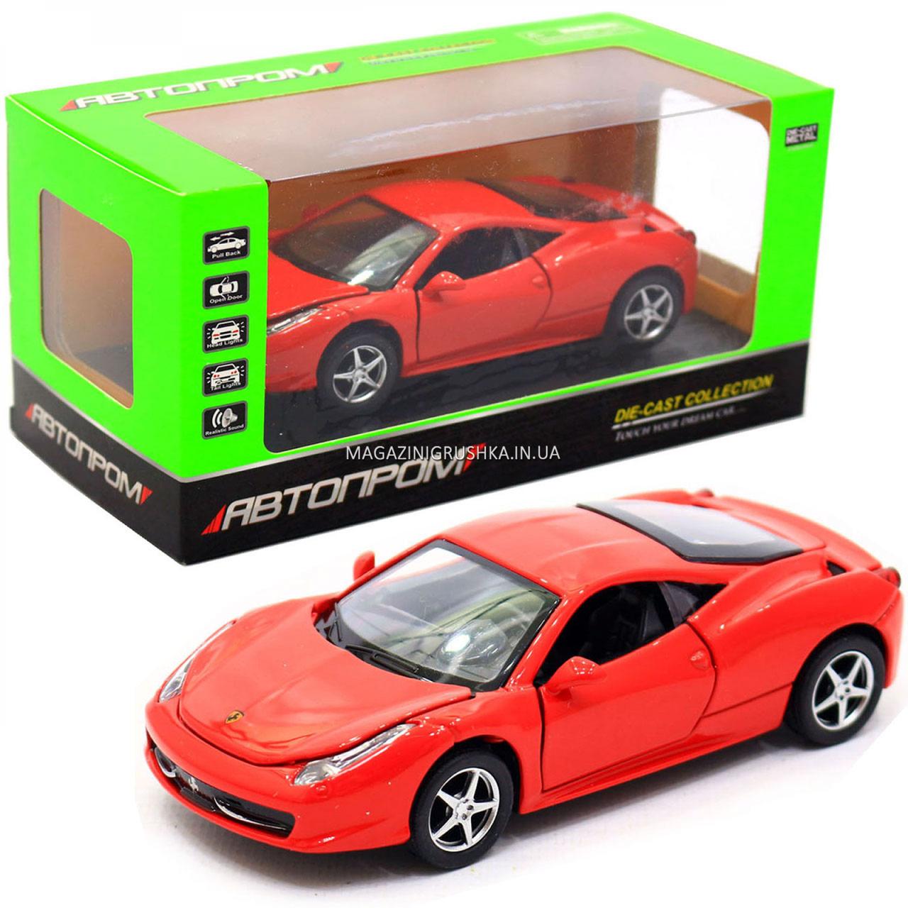 Машинка игровая автопром Ferrari 458 Красный (3201C)