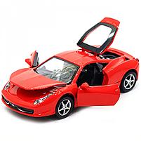 Машинка игровая автопром Ferrari 458 Красный (3201C), фото 7