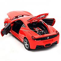 Машинка игровая автопром Ferrari 458 Красный (3201C), фото 8