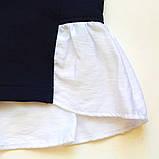 Кофта для девочки SmileTime Schoolgirl, темно-синий с белым, фото 3