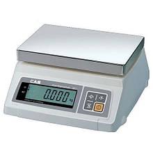 Весы CAS SW D, два дисплея, платформа из нержавеющей стали