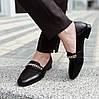 Туфли женские кожаные черные с цепочкой MORENTO, фото 2