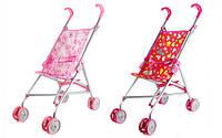 Детская игрушечная коляска для кукол тросточка, поворотные колеса, розовая, игрушки для девочки