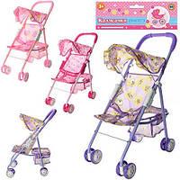 Детская игрушечная коляска для куклы и пупса прогулочная, трость, розовая, игрушки для девочки