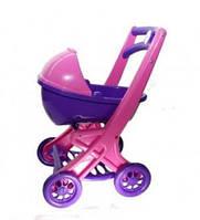 Детская игрушечная коляска прогулочная для кукол и пупсов с люлькой, пластик, фиолетовая, игрушки для девочки